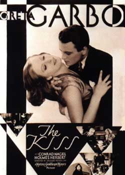 Filmplakat Greta Garbo in The Kiss